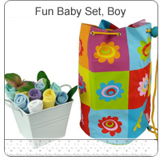 Fun Baby Bag & Bouquet Set ~ Boy