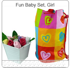 Fun Baby Bag & Bouquet Set ~ Girl