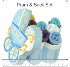 Beautiful Pram & Socks Set ~ Blue