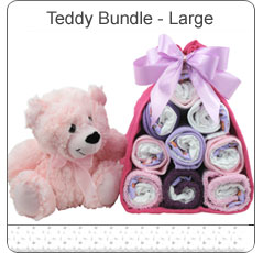 Teddy Bundle Large ~ Pink