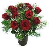 Valentines Deluxe 12   Red Roses