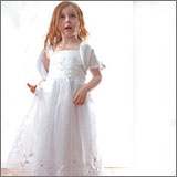 Embroidered Flowergirl Dress { I } - 5 sizes (1,2,3,4,5)