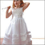 Satin Ribbon Flowergirl Dress { II } - 4 sizes (6,8,10,12)