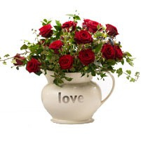 Valentines Romantic  12 Premium Red Roses