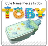 Hand Painted Letters In Cute Memory Box ~ Boy