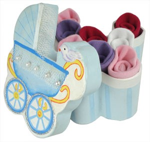 Beautiful Pram & Socks Set ~ Pink