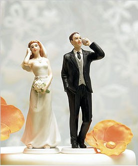 Mobile Phone Fanatic BRIDE Mix & Match Cake Topper