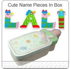 Hand Painted Letters In Cute Memory Box ~ Girl